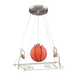 Elk Lighting - ELK Lighting Basketball Court Pendant - Fun for all ages! This whimsical lighting fixtures will put a smile on you or your child's face.