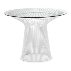 Zuo Modern - Wetherby Dining Table White - The Wetherby table is a great piece of classic modern design. The frame is solid chrome and the top is 10mm thick tempered glass. Strong enough to hold up to all elements.