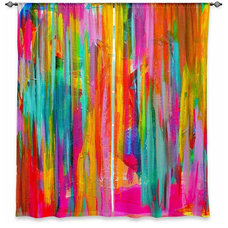 Traditional Curtains by DiaNoche Designs