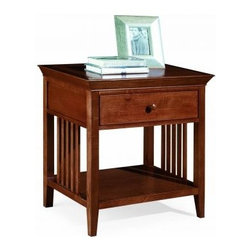 """American Drew 181-400C Drawer Night Stand - Cherry Sterling Pointe - Drawer Night Stand - Cherry - American Drew Sterling Pointe Collection 181-400CFeatures:1 Shelf1 DrawerThis Price Includes:Drawer Night Stand - CherryItem:Weight:Dimensions:Drawer Night Stand - Cherry48 lbs26"""" W X 17"""" D X 28"""" HManufacturer's Materials:Maple and Hardwood SolidsMaple & Poplar Veneers & Simulated Wood Components"""