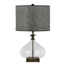 Cal Lighting - Cal Lighting BO-2071TB 1 Light Pedestal Base Table Lamp - Features: