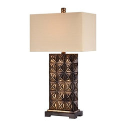 Ambience - Ambience 13047-0 1 Light Light Tan Linen Table Lamp - Features: