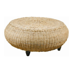 Furniture Classics Limited - Kubu Mandalay Round Ottoman -