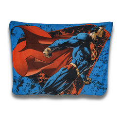 Zeckos - DC Comics Superman Fleece Throw Blanket 45 x 60 in. - Now you can snuggle up with your favorite DC super-cool super-hero with this super-soft Superman fleece throw blanket that would make a great addition to your own 'Metropolis'. Made of 100% polyester, it measures 60 inches (5 feet) long and 45 inches (3.75 feet) wide. Recommended care instructions are to machine or hand wash in cold water and air dry. Drape it over the sofa or your favorite chair so it's always within reach when you feel a chill, or cover your bed or walls in Superman style This blanket makes a great gift for Superman and comic fans that's sure to admired and loved