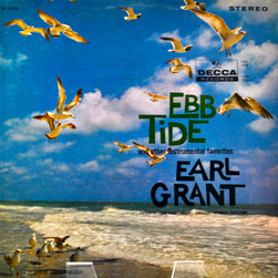 "Adonis Collection - Adonis Collection | Framed Album, Beach - Earl Grant, ""Ebb Tide and Other Instrumental Favorites,"" framed album artwork. Released in 1961 by Decca Records."