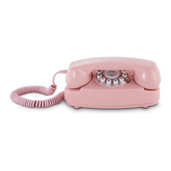 Crosley - Crosley CR59-PI Princess Phone - Pink - It's little, and it's lovely and you probably remember it in your sister's bedroom or at your mother's desk. The original desk phone was redesigned with this smart new look. The Princess'®' introduced in 1959, was compact and attractive. Featured in a pastel pink, this unit has a smaller footprint to fit in those not-so-big spaces. With it's rounded edges, sleek lines and fashionable stylings, it's definitely a must have.    Push Button Technology