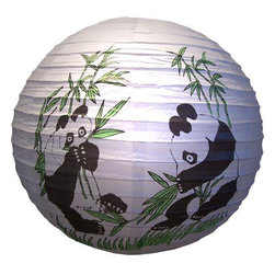 Oriental-Décor - Panda Lantern - Kids love pandas so this lantern would be a great addition to your child's bedroom decor. Hang it from the ceiling and light it from inside to create an instant focal point for the room.