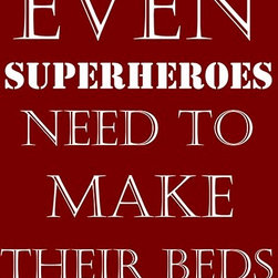 Oh How Cute Kids by Serena Bowman - Superheroes Make Beds, Ready To Hang Canvas Kid's Wall Decor, 24 X 30 - Each kid is unique in his/her own way, so why shouldn't their wall decor be as well! With our extensive selection of canvas wall art for kids, from princesses to spaceships, from cowboys to traveling girls, we'll help you find that perfect piece for your special one.  Or you can fill the entire room with our imaginative art; every canvas is part of a coordinated series, an easy way to provide a complete and unified look for any room.