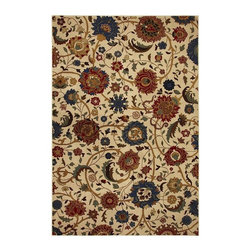 Mohawk - Country & Floral Whispering Vines 8'x11' Rectangle Cream-Red Area Rug - The Whispering Vines area rug Collection offers an affordable assortment of Country & Floral stylings. Whispering Vines features a blend of natural Cream-Red color. Machine Made of Polypropylene the Whispering Vines Collection is an intriguing compliment to any decor.