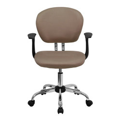 Flash Furniture - Flash Furniture Office Chairs Mesh Task Chairs X-GG-SMRA-FOC-F-6732-H - This value priced mesh task chair will accommodate your essential needs for your home or office space. This chair will add a splash of color to your office for a non-traditional look. Chair features a breathable mesh material with a comfortably padded seat. [H-2376-F-COF-ARMS-GG]