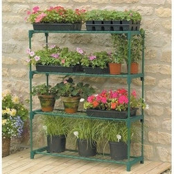 "Gardman USA - Greenhouse Staging - GREENHOUSE STAGING - 2'11"" long x 11"" deep x 3'6"" high.  Ideal for limited spaces. Shelving included. Includes wall fixing rings and guy ropes.  This item cannot be shipped to APO/FPO addresses. Please accept our apologies."