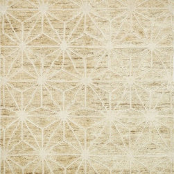 "Loloi - Loloi Sahara SJ-09 (Ivory) 5'6"" x 8'6"" Rug - If it's a stylish statement you seek to make, then we have the rug for you. From India, the Sahara Collection updates living areas with a fresh take on nomadic, Moroccan inspired rugs. Sahara is hand knotted with two different fibers - jute and wool - the later forms the ethnic patterns in each design. Available in traditional off-whites and gorgeous blues."