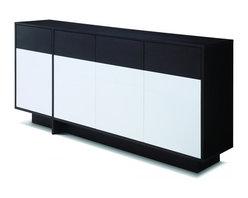 """Creative Furniture - """"Creative Furniture"""" Carla Espresso / White Buffet - Features:"""