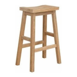 Anderson Teak - Alpine Rectangular Counter Stool - The Alpine Counter Stool is design for any purpose of seating chair. It is economical, simple but yet, strong and comfortable enough for sitting gathering with your family or friends for hours. It is generously sized for added comfort and handsomely crafted in solid construction of plantation kiln dried teak, which makes this chair a wise choice for your seating needs. Add any counter table or bar table of your choice for a complete set. Cushion is optional.