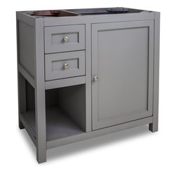 Hardware Resources - VAN103-36 Jeffrey Alexander Vanity in Grey - Jeffrey Alexander Vanity by Hardware Resources