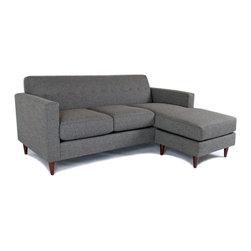 LIberty Manufacturing Company - Jackson Flip Sectional, Granite - Ever been struck by that urge to release the interior designer within? Specifically, via finally rearranging your living room?  Ever had your creativity stifled when you realized that your chaise lounge only works in one direction?