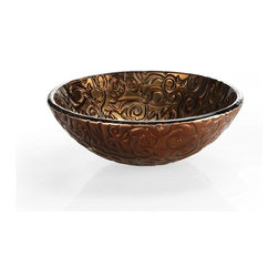 "Xylem - Xylem 16.5 Diameter Reflex Metallic Vessel Sink (RVE165MBV) - Xylem RVE165MBV 16.5"" Diameter Reflex Metallic Vessel Sink, Metallic Brown Copper"