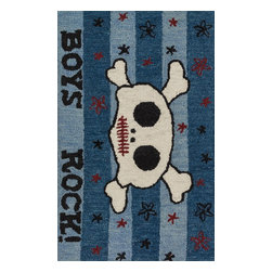 "Loloi Rugs - Loloi Rugs Skylar Collection - Blue, 2'-3"" x 3'-9"" - Make a big statement in small spaces with the Skylar Collection. Hooked in India of 100% wool, the designs bring colorful, bold attitude perfect for entry ways, bathrooms, and kid's rooms.�"