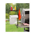 """Maverick - Maverick BBQ Accessory Organize - Four double-sided hooks for holding your most important barbecue tools. Paper Towel Holder is a must have when grilling up your favorite messauce or marinade recipe. Shelf for your spices, and/or cooking gadgets. Also acts as a cover for the paper towels. Large 3.5"""" screw clamp mounts to any grill or table. Our ACCESSORY ORGANIZER makes cooking easier. Now you can have BBQ tools and cooking supplies readily accessable by clamping them to your grill or table! Dimensions: Pole: 27.50"""" x 0.750"""" x 0.750"""".  Shelf: 11.50"""" x 7.5"""" x 0.56"""".  Clamp: 3.50""""."""