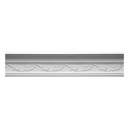 Renovators Supply - Cornice White Urethane Whitehead Ornate Cornice | 12420 - Cornices: Made of virtually indestructible high-density urethane our cornice is cast from steel molds guaranteeing the highest quality on the market. High-precision steel molds provide a higher quality pattern consistency, design clarity and overall strength and durability. Lightweight they are easily installed with no special skills. Unlike plaster or wood urethane is resistant to cracking, warping or peeling.  Factory-primed our cornice is ready for finishing.  Measures 4 3/4 inch H x 96 1/8 inch L.