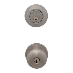 Miseno - Miseno MHDW500WAT-SN Keyed-Entry Door Knob Set Combo w/Deadbolt - Satin Nickel - Keyed-Entry Combo Knob Set Includes: