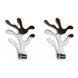 Alessi - Home & Garden > Household Supplies > Storage & Organization > - Set of two wall hooks.  Manufactured by Alessi.Designed in 2008.