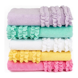 Ruffle Bath Towel - Add brightly colored towels in the bathrooms to welcome guests.