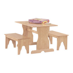 International Concepts - International Concepts JT-3027 3 Piece Juvenile Set - Unfinished - 3 Piece Juvenile Set - Unfinished by International Concepts Table (1), Bench (2)