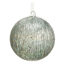 Silk Plants Direct - Silk Plants Direct Glass Striated Pattern Ball Ornament (Pack of 4) - Pack of 4. Silk Plants Direct specializes in manufacturing, design and supply of the most life-like, premium quality artificial plants, trees, flowers, arrangements, topiaries and containers for home, office and commercial use. Our Glass Striated Pattern Ball Ornament includes the following: