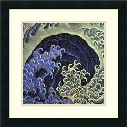 Amanti Art - Feminine Wave Framed Print by Katsushika Hokusai - Japanese artist Katsushika Hokusai was clearly ahead of his time considering he died in 1849. This timeless framed print is one of his most popular images and will grab the attention of all who see it in your home.