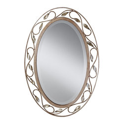 Murray Feiss - Murray Feiss Priscilla Traditional Oval Mirror X-SRA9011RM - Murray Feiss Priscilla Traditional Oval Mirror X-SRA9011RM
