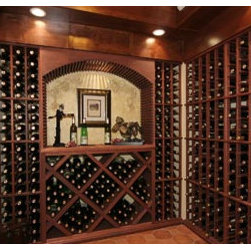Designer Series Wine Racks - Gorgeous display shelving could make even a wine corner look pretty impressive.