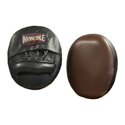 Invincible Air Focus Mitts - Punch up your training sessions using Invincible Air Focus Mitts. These mitts are constructed of durable leather and feature 3 inches of padding for better shock absorption and a unique air pocket in the target area. The sweat-resistant lining help keep mitts dry and smell free.Manufacturer's warranty included - see Product Guarantee for complete details.About Amber Sporting Goods Inc.Dedicated to bringing athletes and enthusiasts the best in training equipment for a variety of competitive sports Amber Sporting Goods offers everything from boxing accessories to kickboxing equipment from martial arts training products to soccer goods. No physical training stone is left unturned as Amber Sporting Goods strives to create the market's threshold for quality and innovation. From karate to boxing Amber Sporting Goods has you covered.