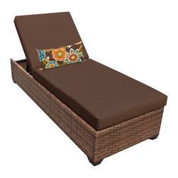 TKC - Tuscan Chaise Outdoor Wicker Patio Furniture 2 for 1 Cover Set, Brown - Features: