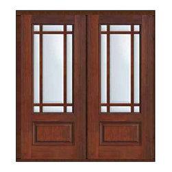 """Prehung French Double Door 80 Fiberglass Marginal 9 Lite Marginal - SKU#MCR08-SDL9_DF34D92BrandGlassCraftDoor TypeFrenchManufacturer Collection9 Lite Marginal French DoorsDoor ModelMarginal 9 LiteDoor MaterialFiberglassWoodgrainVeneerPrice3370Door Size Options2(32"""")[5'-4""""]  $02(36"""")[6'-0""""]  $0Core TypeDoor StyleDoor Lite Style9 Lite , MarginalDoor Panel Style1 PanelHome Style MatchingDoor ConstructionPrehanging OptionsPrehung , ImpactPrehung ConfigurationDouble DoorDoor Thickness (Inches)1.75Glass Thickness (Inches)Glass TypeDouble GlazedGlass CamingGlass FeaturesTempered glassGlass StyleGlass TextureClearGlass ObscurityNo ObscurityDoor FeaturesDoor ApprovalsTCEQ , Wind-load Rated , AMD , NFRC-IG , IRC , NFRC-Safety GlassDoor FinishesDoor AccessoriesWeight (lbs)603Crating Size25"""" (w)x 108"""" (l)x 52"""" (h)Lead TimeSlab Doors: 7 Business DaysPrehung:14 Business DaysPrefinished, PreHung:21 Business DaysWarrantyFive (5) years limited warranty for the Fiberglass FinishThree (3) years limited warranty for MasterGrain Door Panel"""
