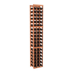 Three-Column Standard Wine Cellar Kit in Redwood