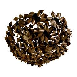 Varaluz - Varaluz 124S08BZ Pinwheel Painted Chocolate Bronze 8 Light Flush Mount - Crafted Eco-Friendly Recycled Aluminum