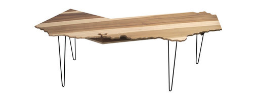 Monkwood - California Home Office Desk w/ Under-shelf, 10ft - This California shaped desk was inspired by my return back to California a few years back. It also features a discreet, yet robust under shelf to hide cables as well as store your office supplies, cables, modems and hardrives.