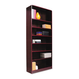 Alera - Alera BCR78436MY Aleradius Corner Wood Veneer Bookcase - Mahogany Brown - ALEBCR - Shop for Bookcases from Hayneedle.com! About AleraWith the goal of meeting the needs of all offices -- big or small casual or serious -- Alera offers an excellent line of furnishings that you'll love to see Monday through Friday. Alera is committed to quality innovative design precision styling and premium ergonomics ensuring consistent satisfaction.