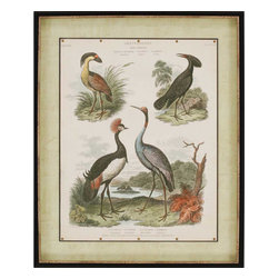 Paragon - Heron and Crane II - Framed Art - Each product is custom made upon order so there might be small variations from the picture displayed. No two pieces are exactly alike.