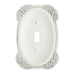 Liberty Hardware - Liberty Hardware 144398 Arboresque WP Collection 3.67 Inch Switch Plate - White - A simple change can make a huge impact on the look and feel of any room. Change out your old wall plates and give any room a brand new feel. Experience the look of a quality Liberty Hardware wall plate. Width - 3.67 Inch, Height - 5.43 Inch, Projection - 0.24 Inch, Finish - White Antique, Weight - 0.4 Lbs.
