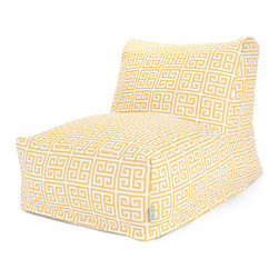 Majestic Home - Outdoor Citrus Towers Bean Bag Chair Lounger - Add style and functionality to your living room, family room or outdoor patio with the Majestic Home Goods Bean Bag Chair Lounger. This Beanbag Chair has the design of modern furniture, while still giving the comfort of a classic bean bag. Woven from outdoor treated polyester, these loungers have up to 1000 hours of U.V. protection and are able to withstand all of natures elements. The beanbag inserts are eco-friendly by using up to 50% recycled polystyrene beads, and the removable zippered slipcovers are conveniently machine-washable.