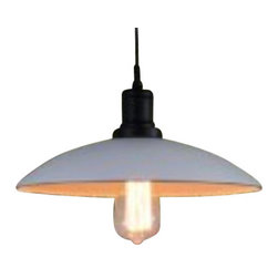 Ohr Lighting® - Ohr Lighting® Edison Factory Pendant Light With Edison Bulb, White Shade - Features
