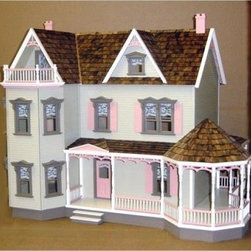 Real Good Toys Glenwood Dollhouse Kit - 1 Inch Scale - Ladies and gentlemen alike will appreciate the Real Good Toys Glenwood Dollhouse Kit - 1-Inch Scale. This popular Victorian-style model includes a 19-inch gazebo porch. With 10 to 12 spacious rooms and an impressive 9.438-inch floor-to-ceiling height, it's the perfect gathering place for your figurines. Among the regal trimmings of this stately unfurnished model are pre-assembled windows and doors and 0.125-inch gingerbread trim. It will take approximately 30 to 40 hours to assemble and finish.This traditional 3-story house is available in two different durable construction options. Choose between milled plywood and MDF wall finishes. The decorative porch and other exceptional details reflect the uncompromising craftsmanship that went into the creation of this model, adding fanciful form to an already handsome design. It features moveable room dividers, wooden shingles, and sturdy 0.375-inch exterior walls and grooved sidewalls. Recommended supplies include a hammer, glue, masking tape, sandpaper, paint, brushes, ruler, and brads. Please note that any landscaping or furnishings are not included. This exquisite kit is suitable for use by collectors. As it includes small pieces, it's not recommended for children under the age of 3.About Real Good ToysBased in Barre, Vt., Real Good Toys has been handcrafting miniature homes since 1973. By designing and engineering the world's best and easiest to assemble miniature homes, Real Good Toys makes dreams come true. Their commitment to exceptional detail, the highest level of quality, and ease of assembly make them one of the most recommended names in dollhouses. Real Good dollhouses make priceless gifts to pass on to your children and your children's children for years to come.
