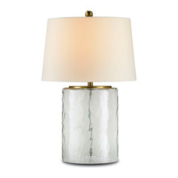 Currey & Co - Currey & Co 6197 Oscar Clear Glass Table Lamp - 1 Bulb, Bulb Type: 150 Watt Edison; Weight: 8lbs