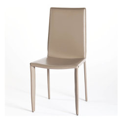 Moe's Home Collection - Veloce Dining Chair Taupe - Set Of 2 - Fully upholstered chair.