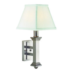"""House of Troy - Wall Sconce Satin Nickel - -Dimensions: 13.75""""D, 7""""W, 7.5""""D."""
