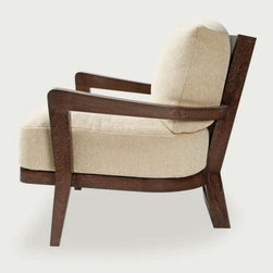 Hourglass Lounge Chair and Ottoman - Available in solid maple, oak, or walnut.