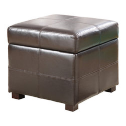 Modus Furniture International - Urban Seating Storage Cube in Chocolate Leatherette - We created the Urban Seating collection to provide stylish, affordable seating and storage options throughout the home. Great around a table, in a foyer, a game room or a den, chairs are engineered for easy assembly using durable 9 bolt grooved corner block construction and feature web seat cushions for extra comfort. Storage cubes and benches ship fully assembled and feature padded tops, upholstered interiors and built-in wood serving trays. The cubes and benches are a smart accent to any room of the house and are great for storing bed linens, shoes, toys, magazines, gaming accessories and other household clutter. All Urban Seating products are available in a supple leatherette that's durable, stylish and easy to clean.