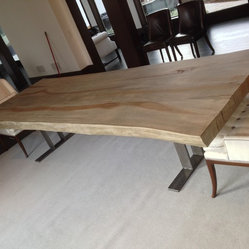Transitional Dining Tables Houzz